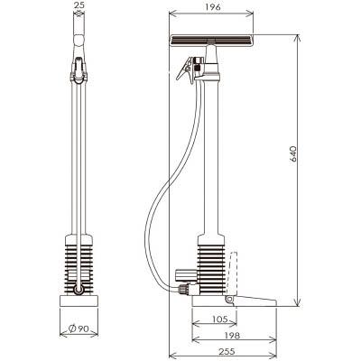 フルプラ ダイヤポンプ空気入れ圧力計付きイエロー 910-Y