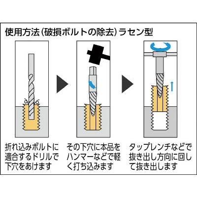 トラスコ中山(TRUSCO) エキストラクター ラセン型 19.0〜25.0mm用  EX-806A  (19.0カラ25.0MM)