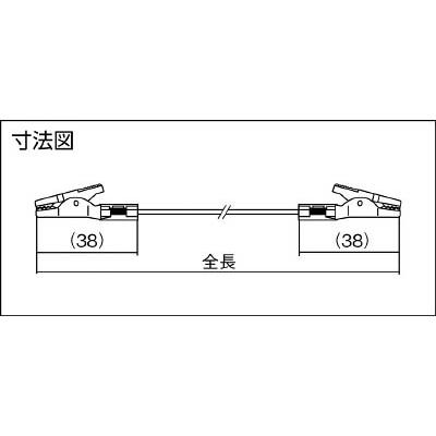 テイシン電機 テストリードS 100cm モールドクリップS両端付 0.3sq TLA-23