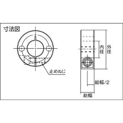 IWATA スタンダードスリットカラー 2ネジ穴付 SUS SCS5022SN2