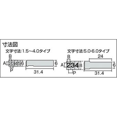 浦谷 ハイス精密組合刻印 Aセット6.0mm UC-60AS (6.0MM)