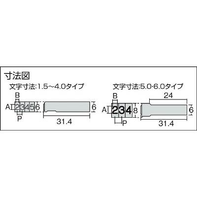 浦谷 ハイス組合せ刻印5.0mmバラ 英字Z UC50BZ