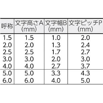浦谷 ハイス組合せ刻印2.5mmバラ 記号× バツ UC25KBATSU