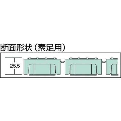 テラモト ロ−ルスノコ 素足用 緑 MR-063-176-1