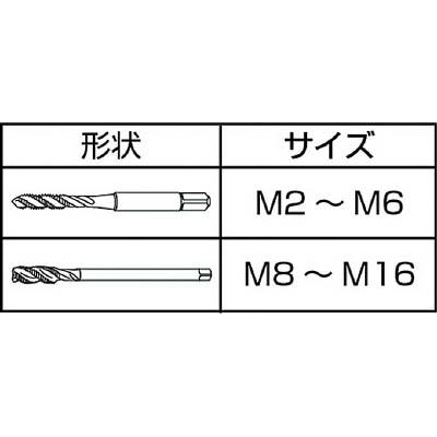 IS ステンレス用スパイラルタップ M6X1.0 SPT-SUS-M6X1.0(ISP-M6SUS)