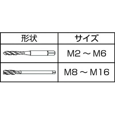 IS ステンレス用スパイラルタップ M10X1.5 SPT-SUS-M10X1.5(ISP-M10SUS)