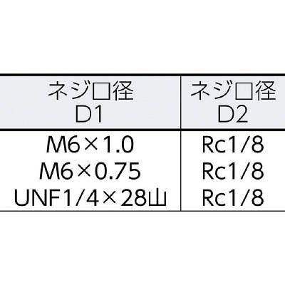 トラスコ中山(TRUSCO) 異径ニップル M6X1.0 RC1/8 3個入 TGN-NP1