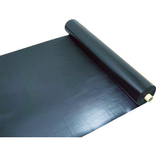 ワニ印 塩ビ養生シート 黒 厚み0.5MM 1M×30M 003082