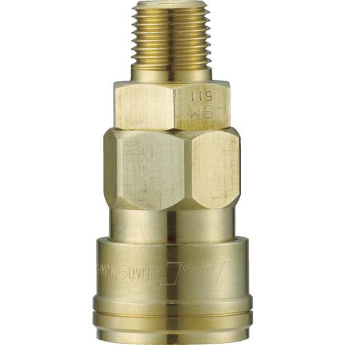 ナック クイックカップリング AL40型 真鍮製 メネジ取付用 CAL44SM2