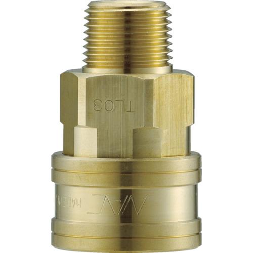 ナック クイックカップリング TL型 真鍮製 メネジ取付用 CTL08SM2