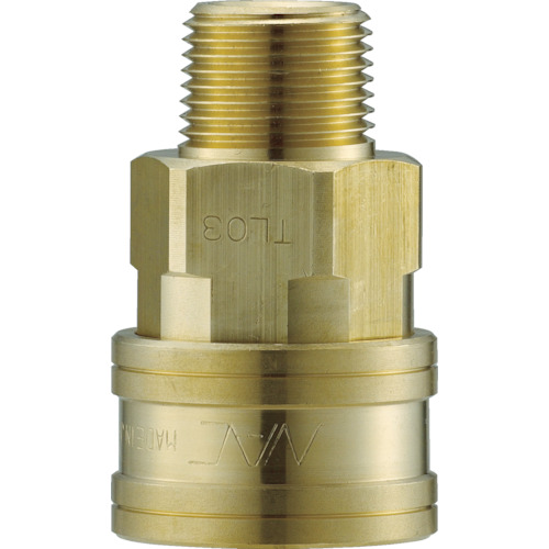 ナック クイックカップリング TL型 真鍮製 メネジ取付用 CTL16SM2