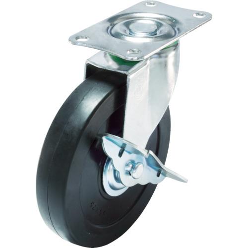 ■ユーエイ キャスターS付自在車 径75ハードゴム車輪 E-75RHS