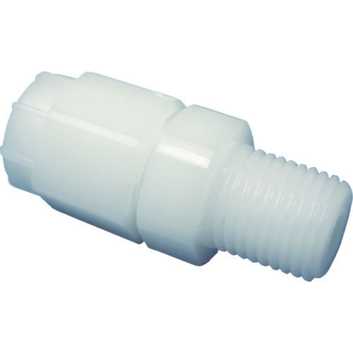 ARAM FUコネクターハーフストレート ポリプロピレン(白)(1766−08) FHS0812R38PP