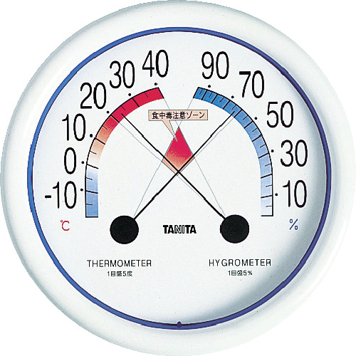 TANITA 食中毒注意ゾーン付温湿度計 5488 5488