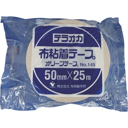 TERAOKA カラーオリーブテープ NO.145 白 50mmX25M 145 W-50X25