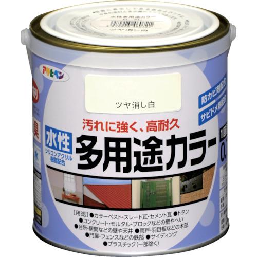 アサヒペン 水性多用途カラー 0.7L ツヤ消し白460721