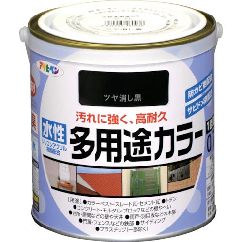 アサヒペン 水性多用途カラー 0.7L ツヤ消し黒460936