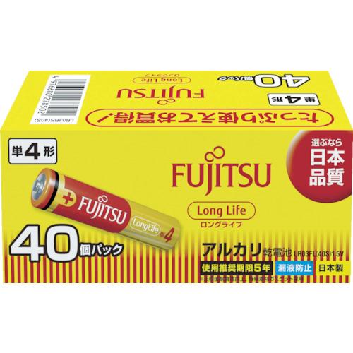 富士通 アルカリ単4(40個) LongLife LR03FL40S