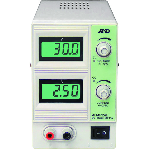 A&D 直流安定化電源 30V 2.5A AD8724D