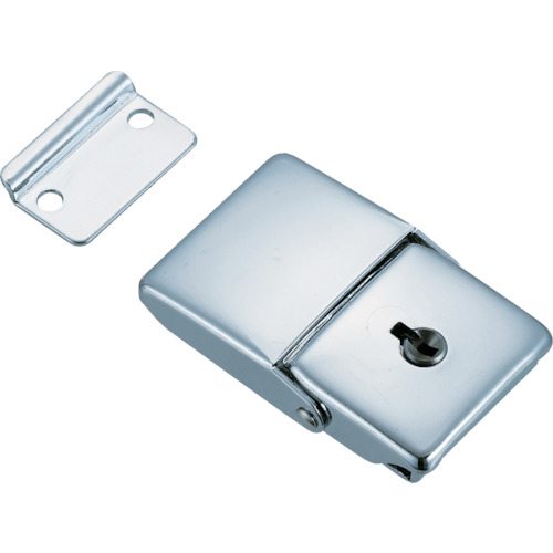トラスコ中山(TRUSCO) パッチン錠 鍵付タイプ・スチール製  L-25  (4コイリ)