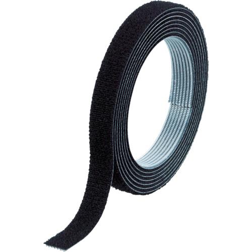 トラスコ中山(TRUSCO) マジックバンド結束テープ 両面 幅10mmX長さ1.5m 黒 MKT-1015-BK