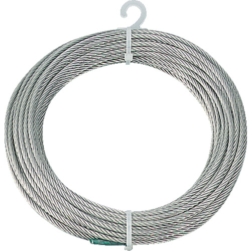 トラスコ中山(TRUSCO) ステンレスワイヤロープ Φ3.0mmX10m  CWS-3S10  (3MMX10M)