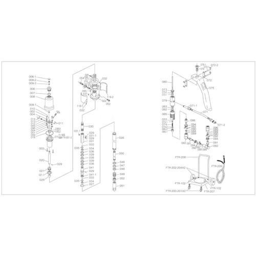 トラスコ中山(TRUSCO) FTR65G用 保接器パッキン FTR-049