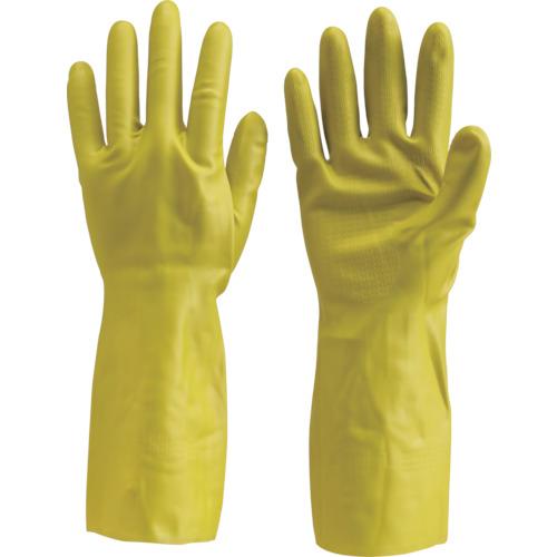 TRUSCO 天然ゴム手袋 中厚手タイプ グリ−ン Lサイズ DPM-5495-G-L