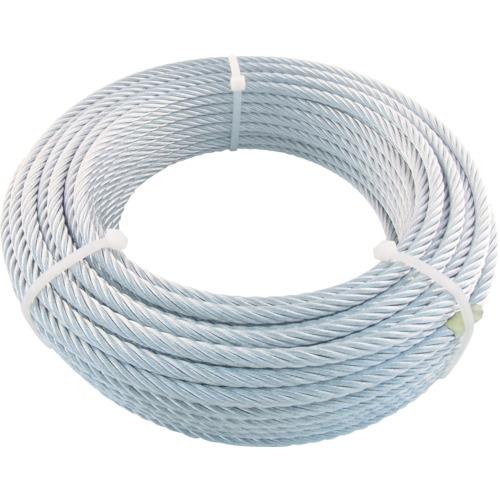 トラスコ中山(TRUSCO) JIS規格品メッキ付ワイヤロープ (6X19)Φ6mmX30m JWM6S30
