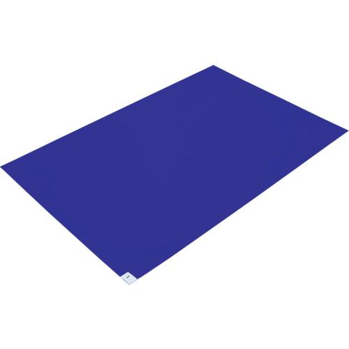 トラスコ中山(TRUSCO) 粘着クリーンマット 600X450MM ブルー 1シート CM60451B
