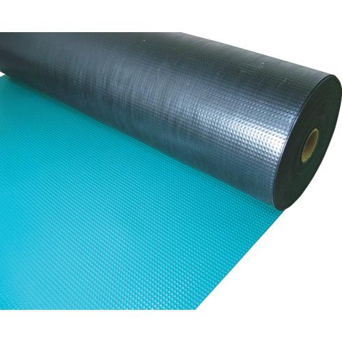 TRUSCO 塩ビマット ピラミッド グリーン 1.5mmX915mmX20mTEPM920GN