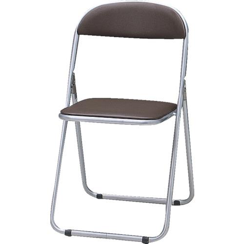 トラスコ中山(TRUSCO) 折りたたみパイプ椅子 ウレタンレザーシート貼り ブラウン  FC-1000TS  BR(ブラウン)(ネンタイトウタイプ)